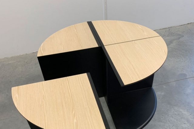 Slice Coffee Table easily converts to side tables or sofa tables