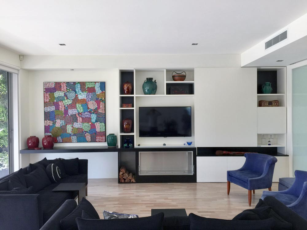 St Kilda Penthouse STF Living Room Wall Unit