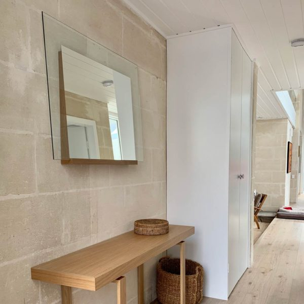 Custom Size Retro Mirror with Angled Timber Frame