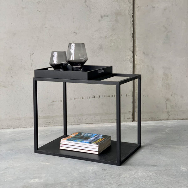 NEO side table with removable tray