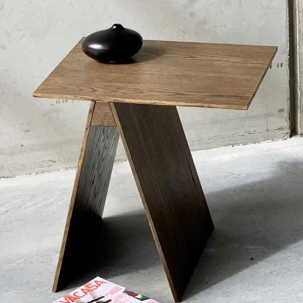 Trestle Side Table American Oak