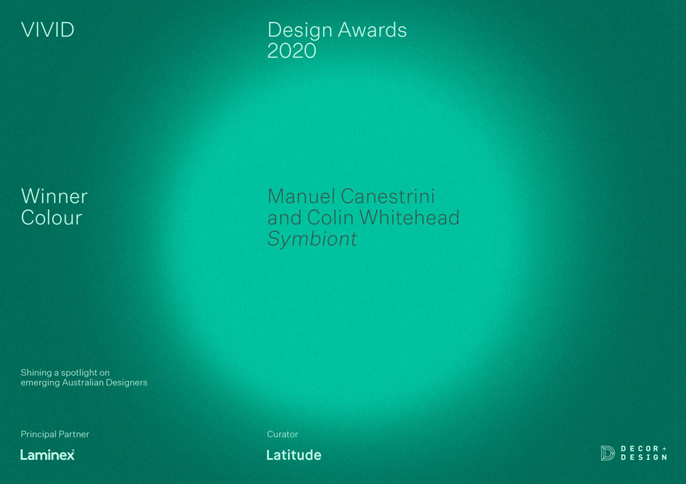 VIVID Design Award Certificate 2020