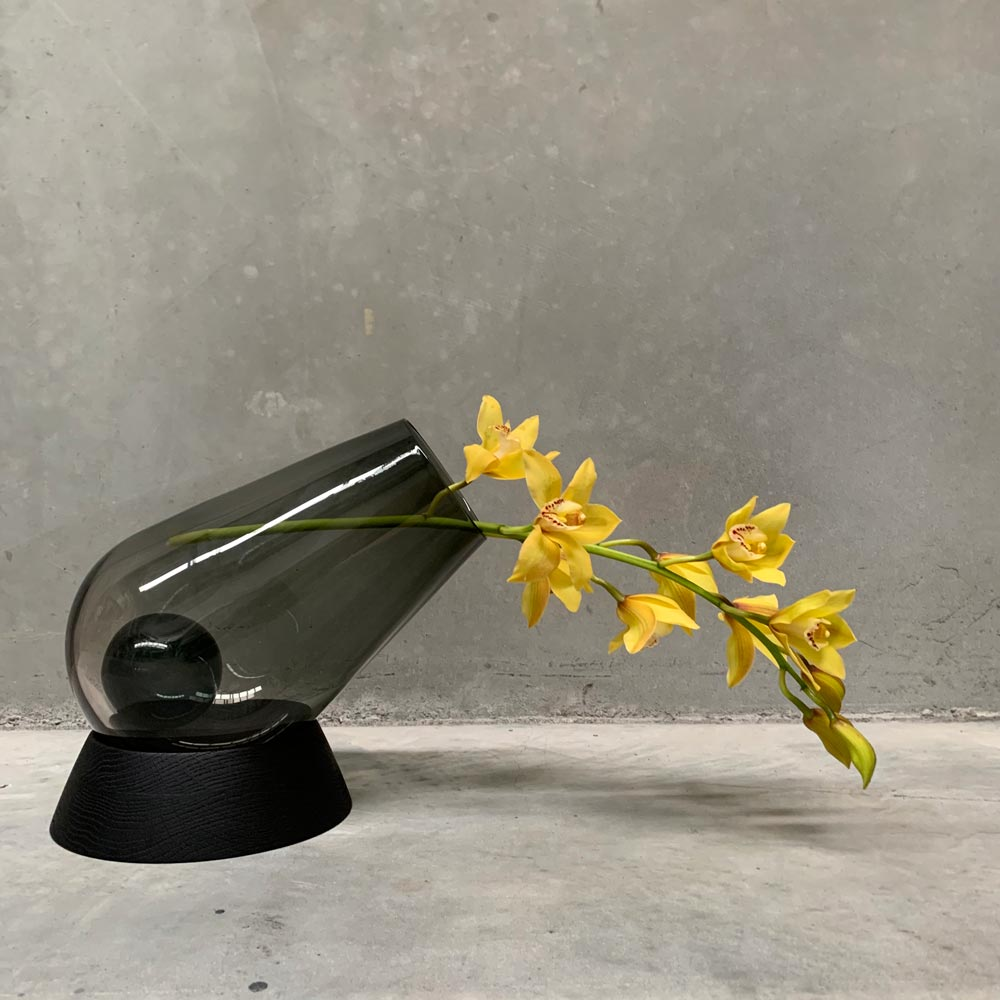 Cannon Vase with Orchid
